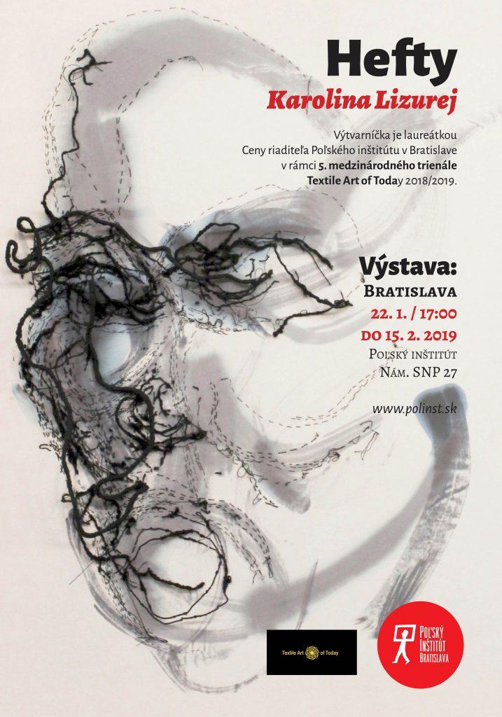 plagat vystava Karolina Lizurej Bratislava
