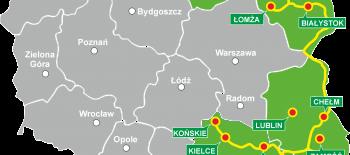MAPKA POLSKI Green Velo