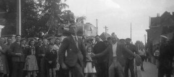 Une image d'archives de la liberation par les Polonais
