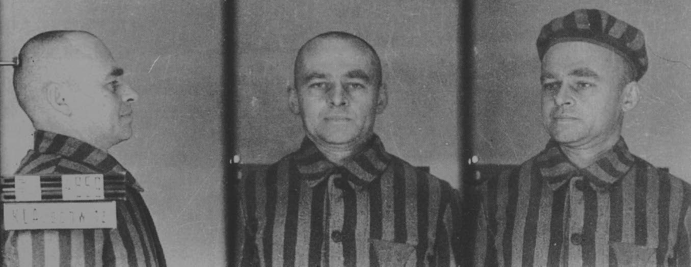 Witold Pilecki fényképe az auschwitzi német koncentrációs táborból