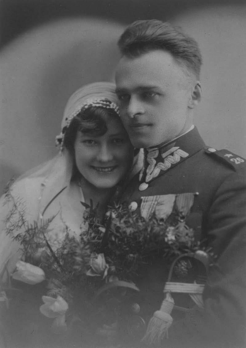 Maria és Witold Pilecki esküvői fényképe