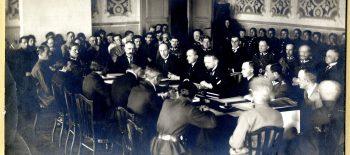 Delegacja polska w trakcie rokowań 1921