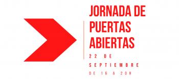 Jornada Puertas Abiertas 22 sept. 2021