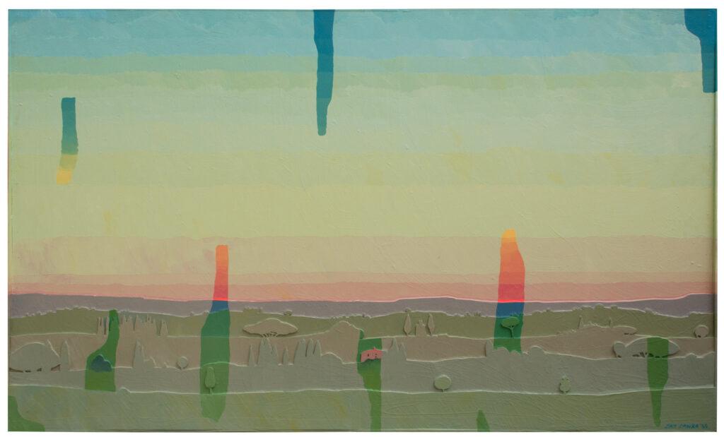 "©Fading by Jan Sawka, 2005, 49 x 81"". Acrylic on Masonite. Courtesy of Jan Sawka Estate"
