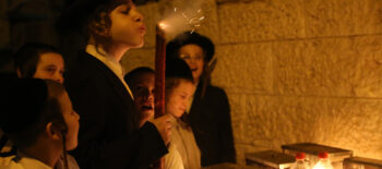 Hanukkah in Mea Shearim Jerusalem by Agnieszka Traczewska. Courtesy of the artist