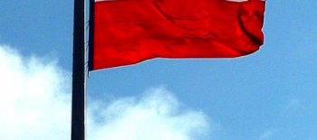 flagofpolandatarkadiainwarsaw2015