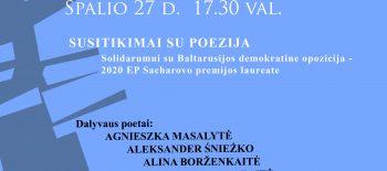 SAVA, POEZIJOS, KALBA – SKIRTINGOMS TAUTOMS Solidarumo koncertas 10 27