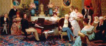 Henryk Siemiradzki, Chopin im Salon des Fürsten Anton Radziwill_Wikimedia